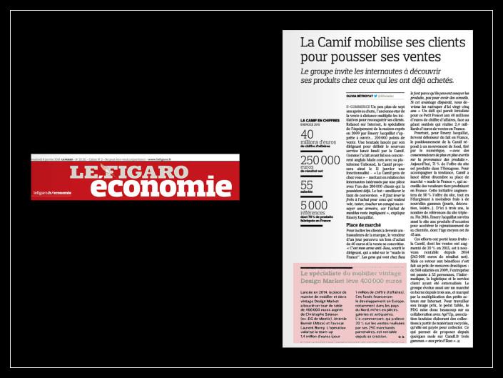 Le Figaro Economie - Design Market - 8 janvier 2016