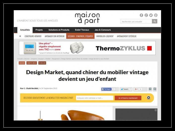 Maisonàpart.com - Design Market- 24 septembre 2015