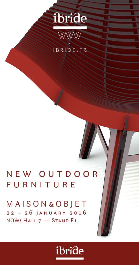 Nouveau mobilier outdoor ibride présenté sur le salon de la déco et du design, Maison & Objet